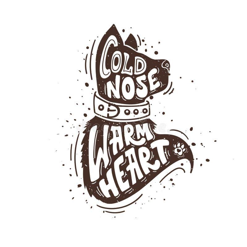 Zimnego nosa ciepły serce ilustracji