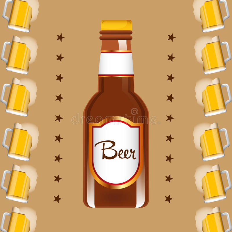 Zimnego piwa projekt ilustracja wektor
