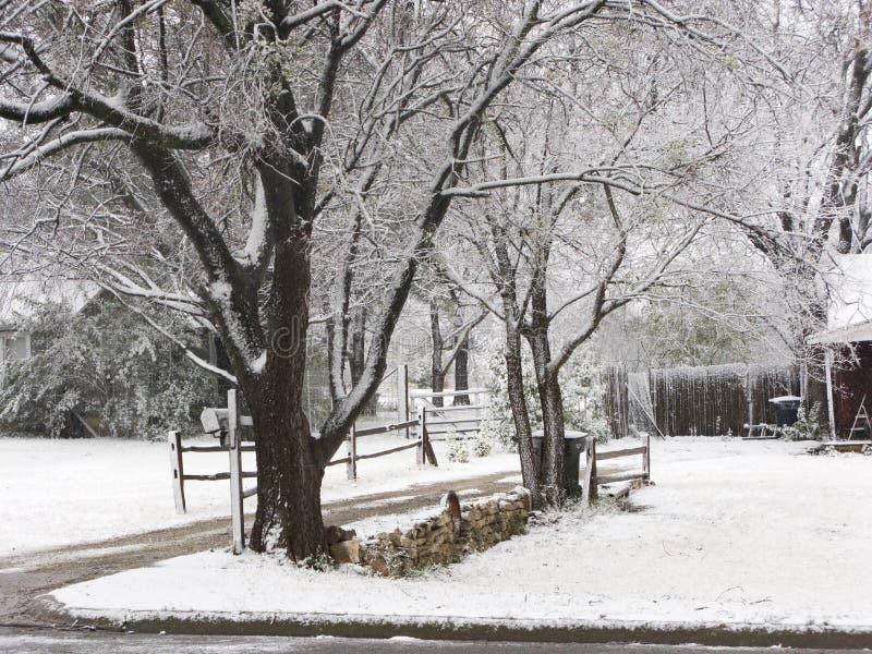 zimnej sceny zimowe śniegu zdjęcia stock