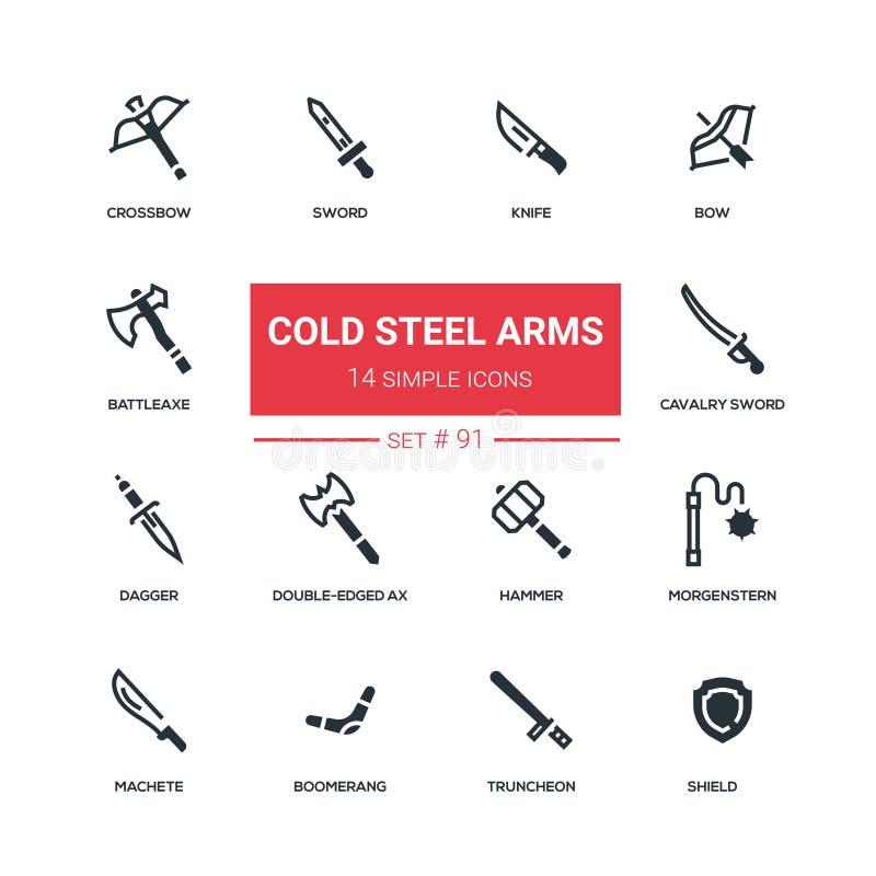 Zimnej stali ręki - płaskie projekta stylu ikony ustawiać ilustracji