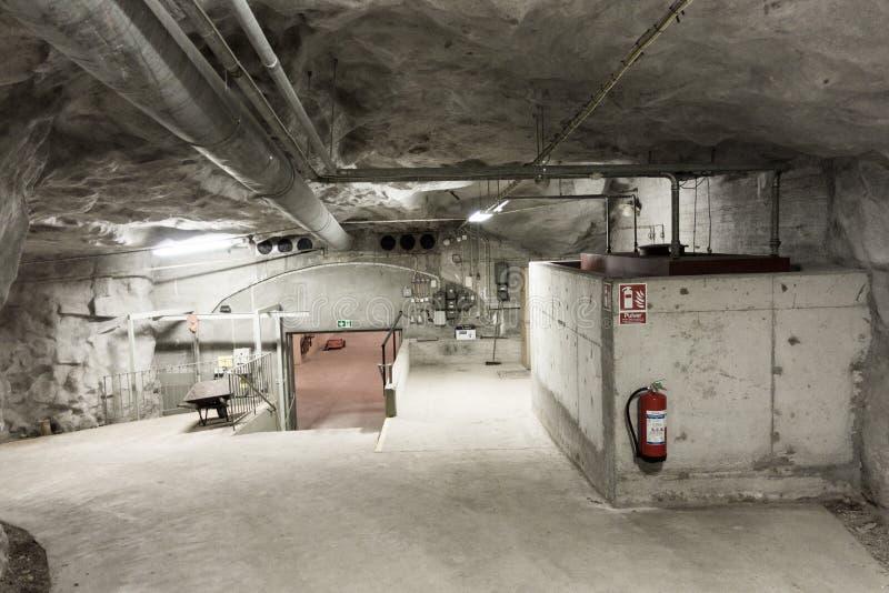 Zimnej wojny bunkieru wnętrze zdjęcia stock