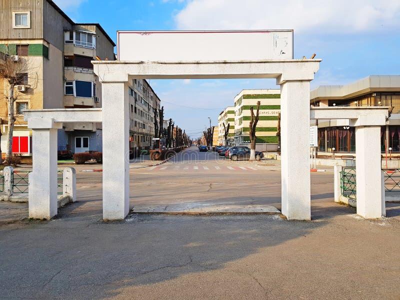 Zimnicea Teleorman Ρουμανία άδειο κέντρο της πόλης στοκ εικόνες