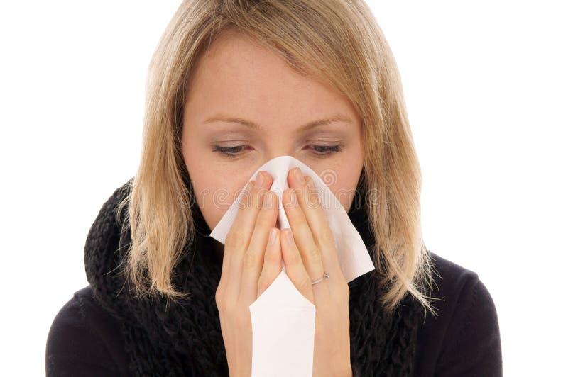 Download Zimno obraz stock. Obraz złożonej z alergie, kobieta - 28968611
