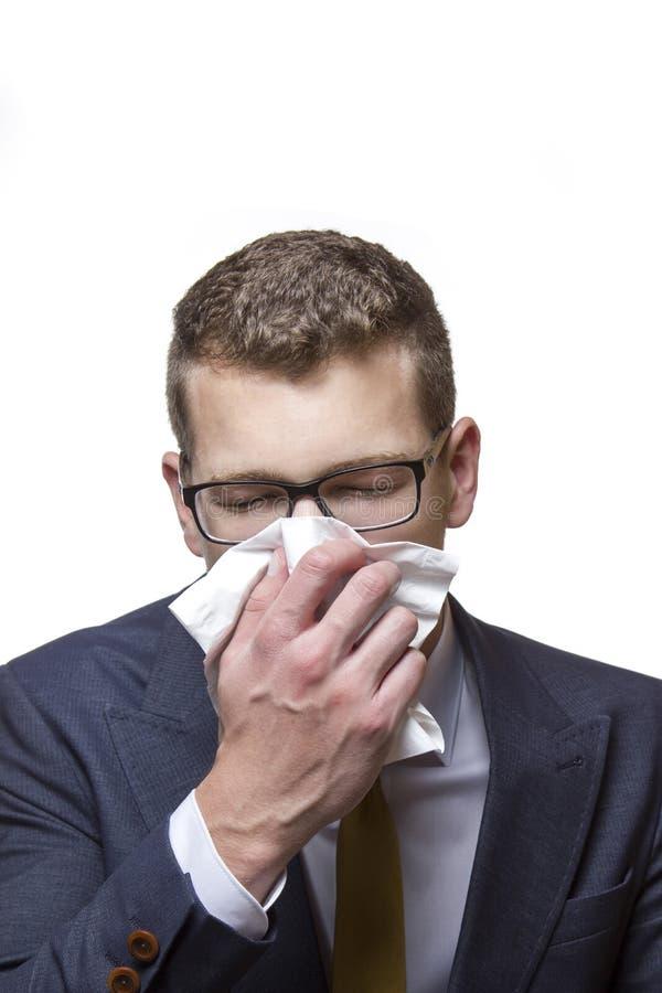Zimno, alergia, grypa zdjęcie royalty free