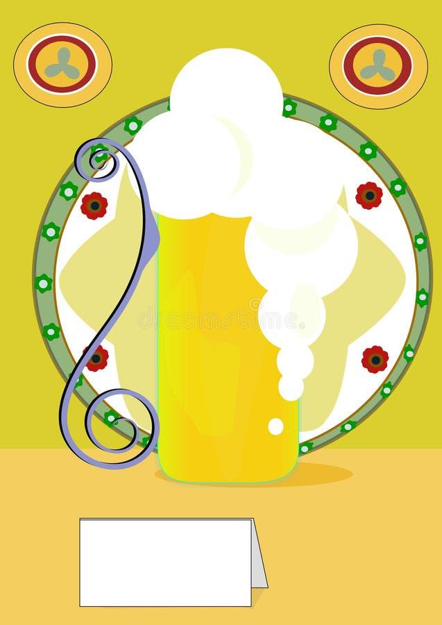 Zimno fermentujący słód jest dobry royalty ilustracja