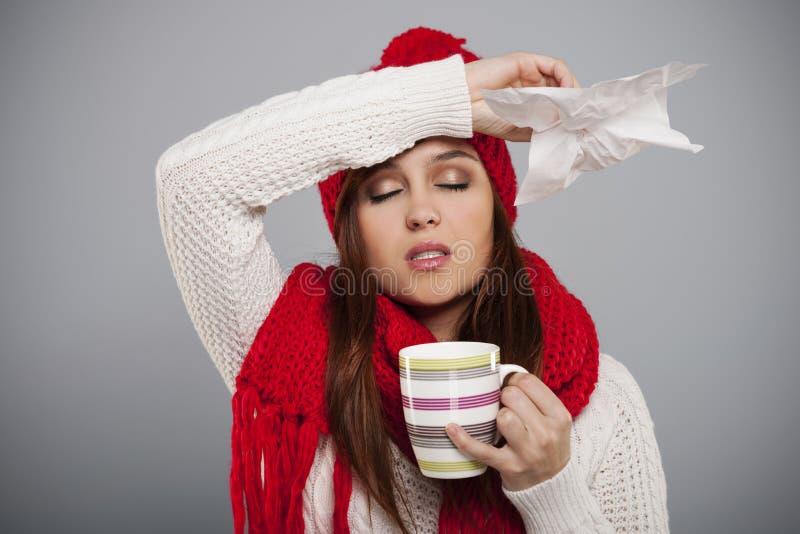 Zimno i grypa obraz stock