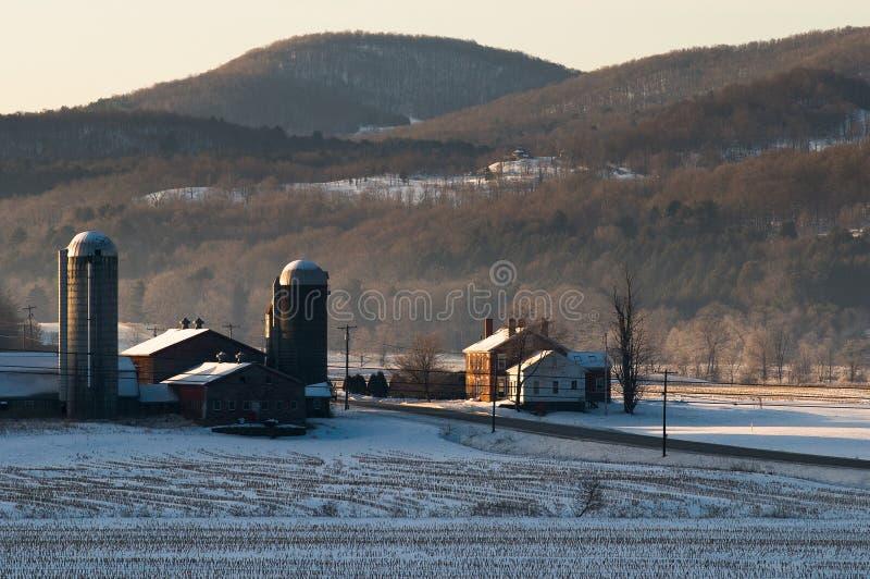 zimno rolny Vermont obrazy royalty free