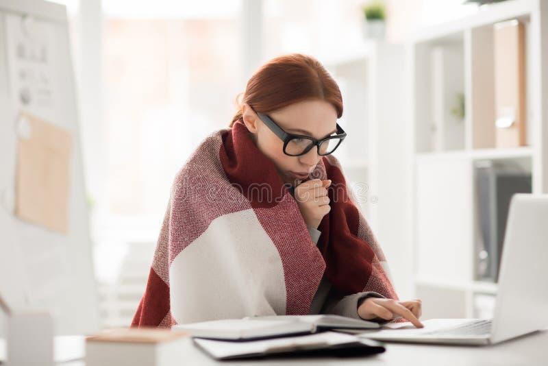 Zimno w biurze obraz stock