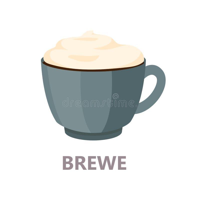 Zimno warzący filiżanka kawy wyśmienicie napój royalty ilustracja