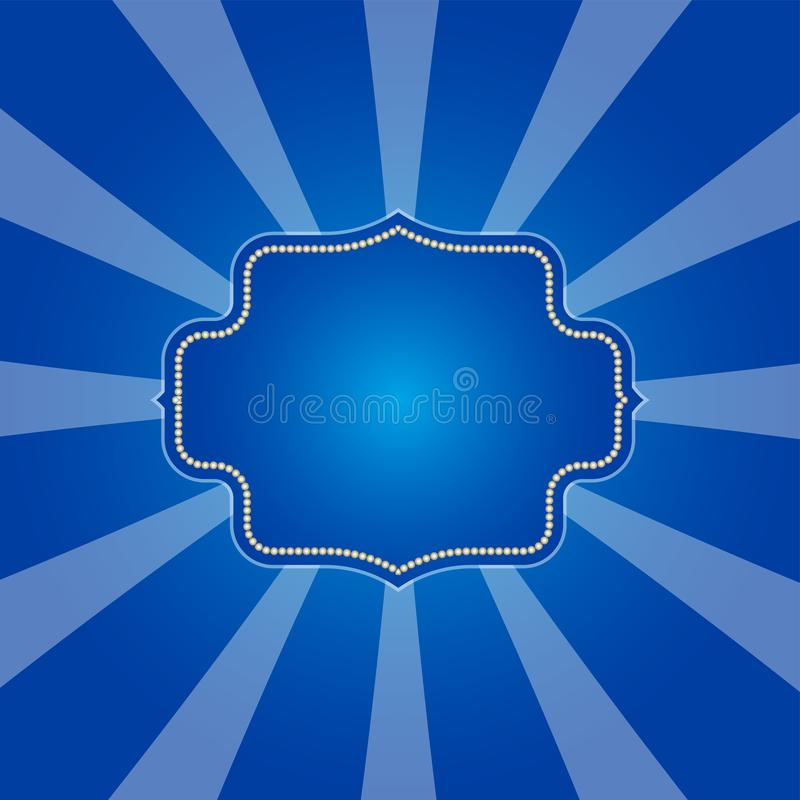 Zimny błękitny promienia tło w retro projekcie royalty ilustracja