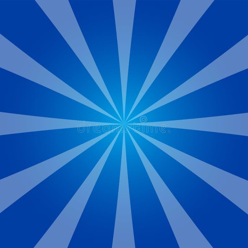 Zimny błękitny promienia tło w retro projekcie ilustracja wektor