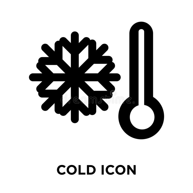 Zimny ikona wektor odizolowywający na białym tle, loga C pojęcie royalty ilustracja