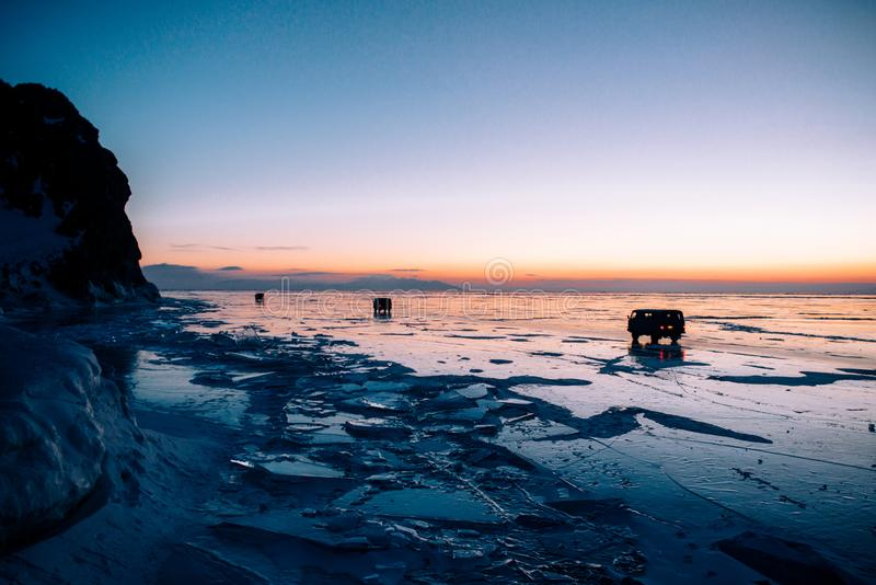 Zimny Jeziorny Baikal obrazy stock