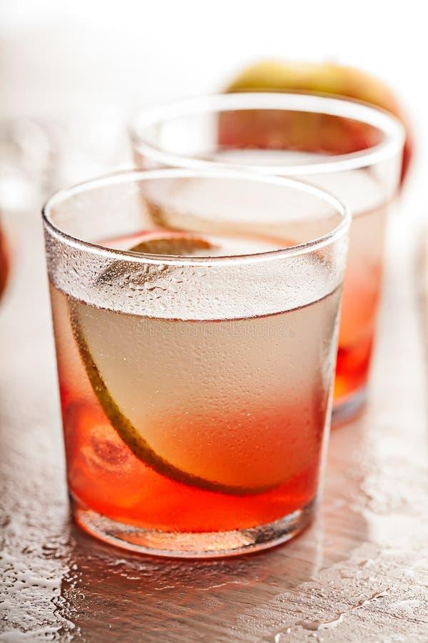 Zimny lato koktajlu napój z bonkretą zdjęcia royalty free
