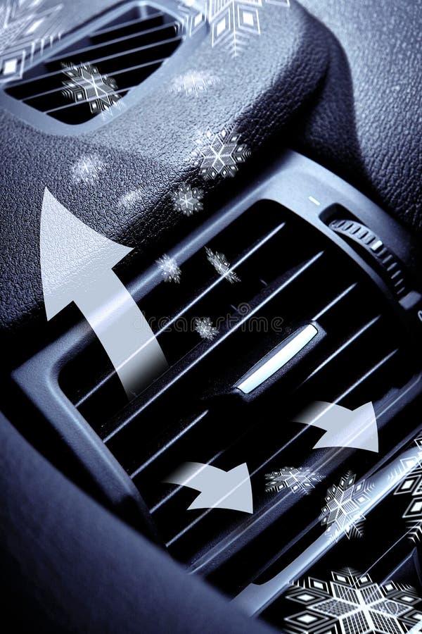 Zimny powietrze od samochód wentylaci zdjęcie royalty free