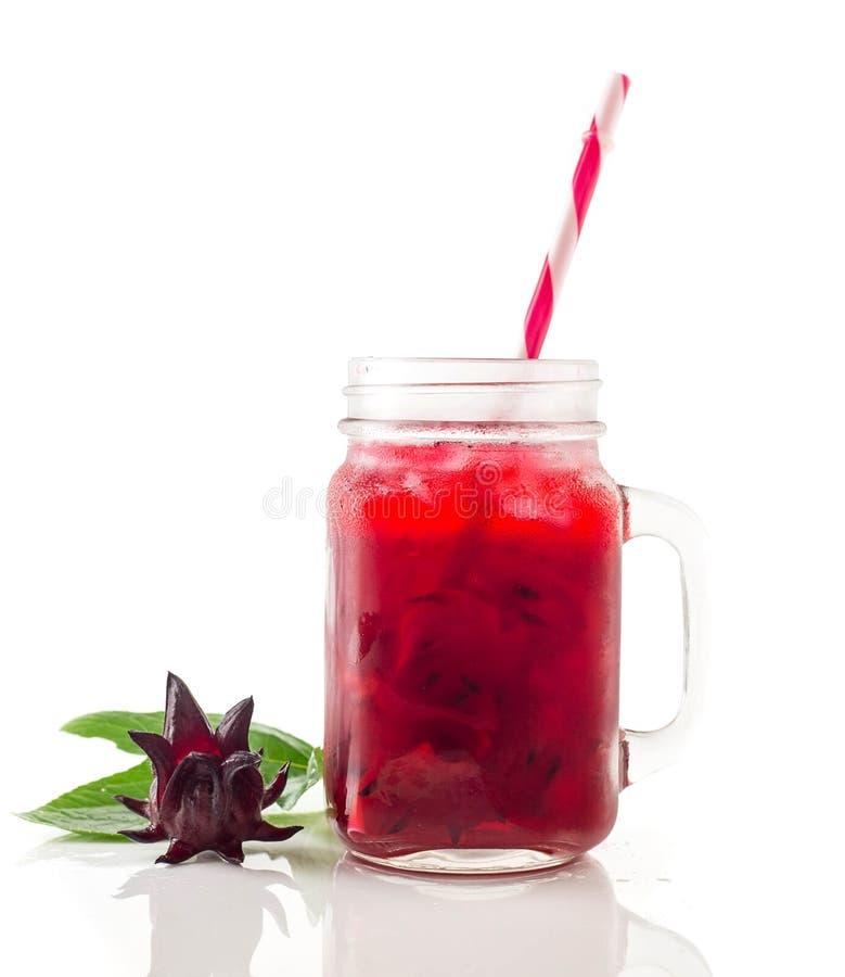 Zimny roselle napój zdjęcia stock