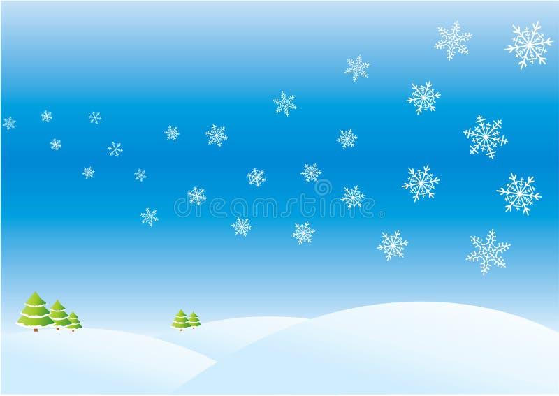 zimowy dzień royalty ilustracja