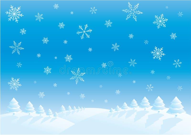 zimowy dzień ilustracja wektor