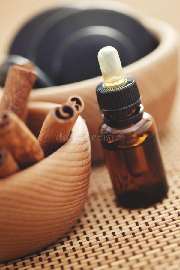 Zimt aromatherapy stockfotos