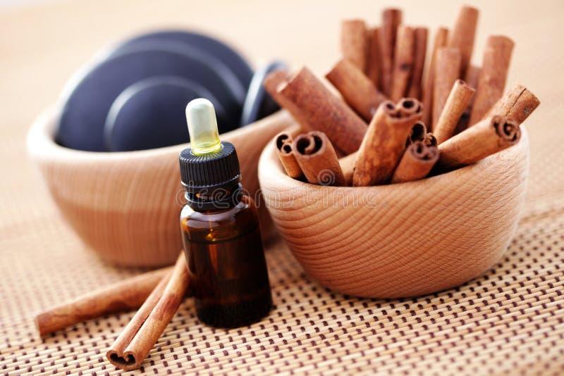 Zimt aromatherapy stockbilder