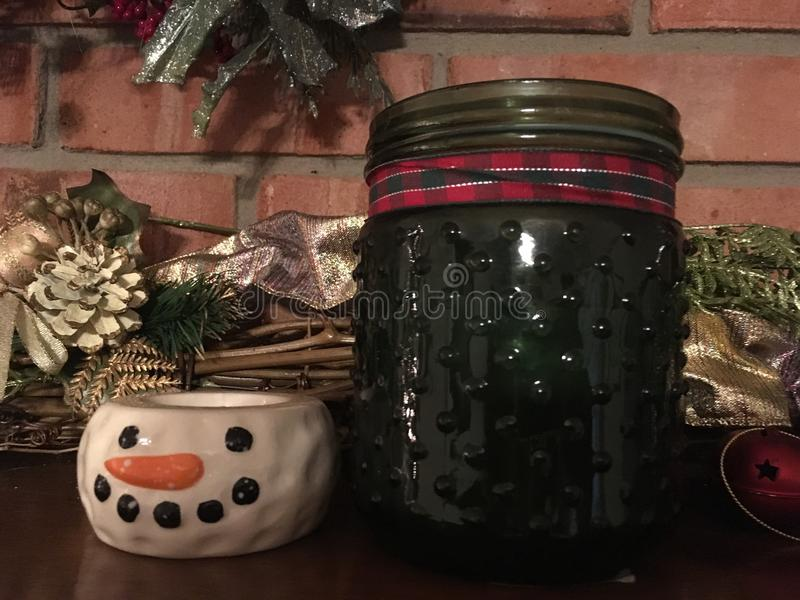 Zimy świeczki salopa fotografia stock