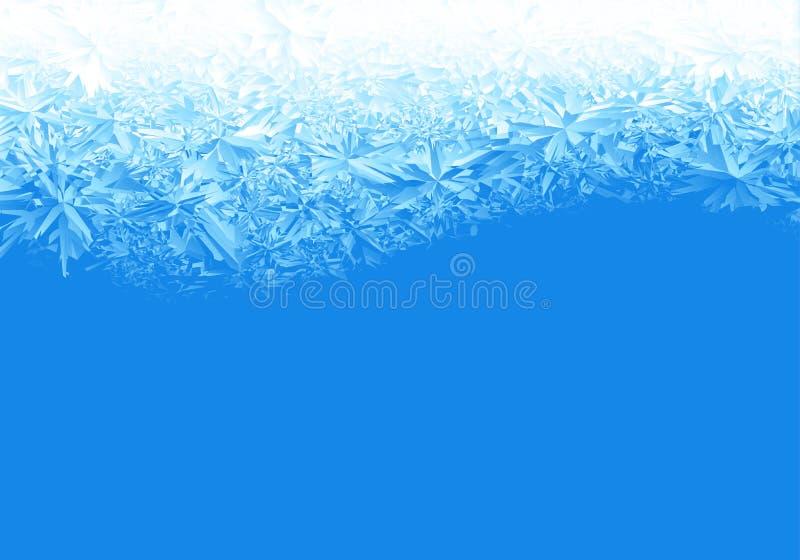Zimy błękita lodu mrozowy tło ilustracji