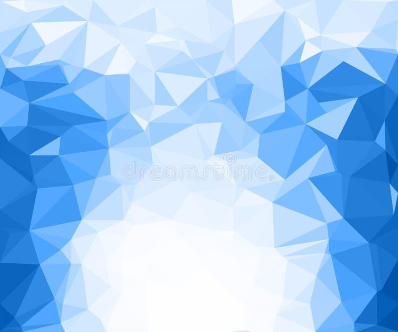 Zimy błękita lodu tekstury mrozu geometryczny tło - wektor ilustracji