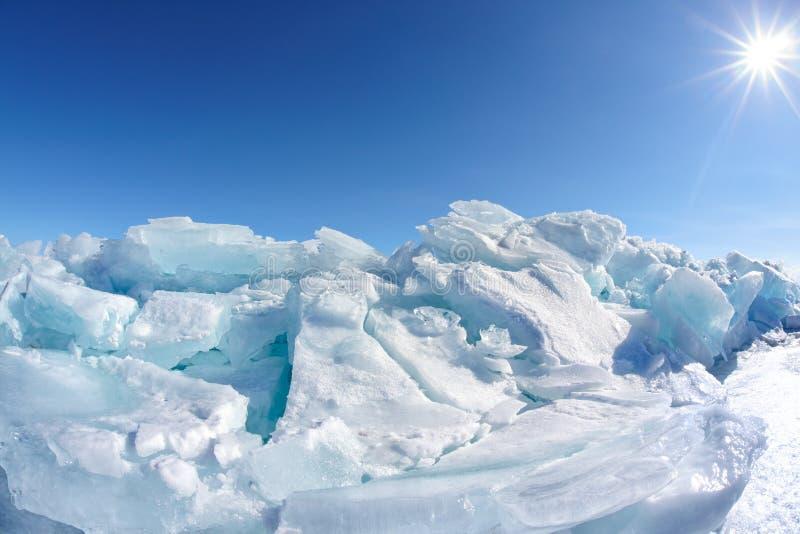 Zimy Baikal jezioro obraz royalty free