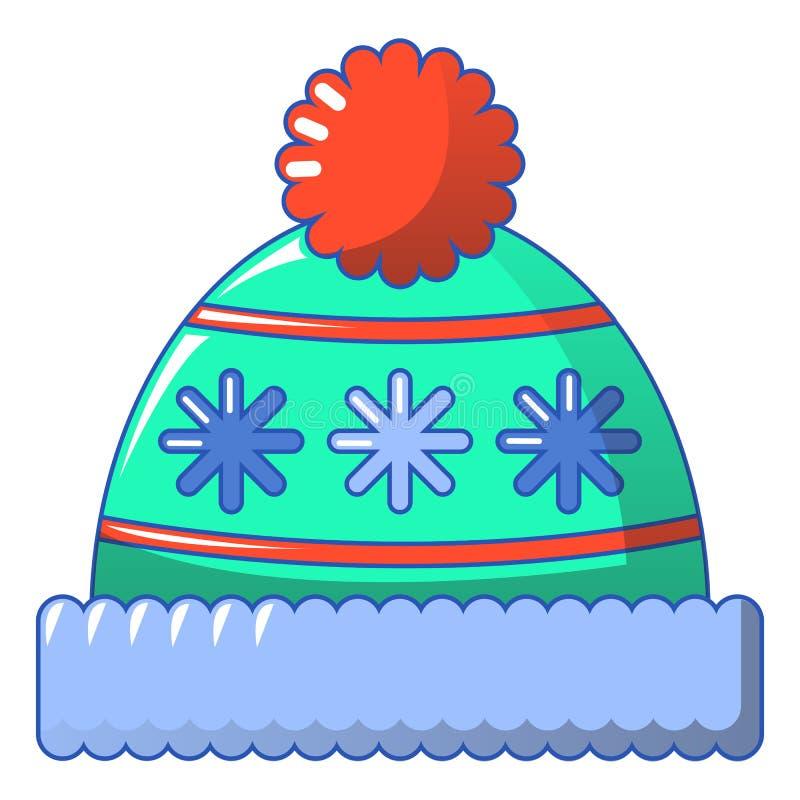 Zimy beanie ikona, kreskówka styl royalty ilustracja