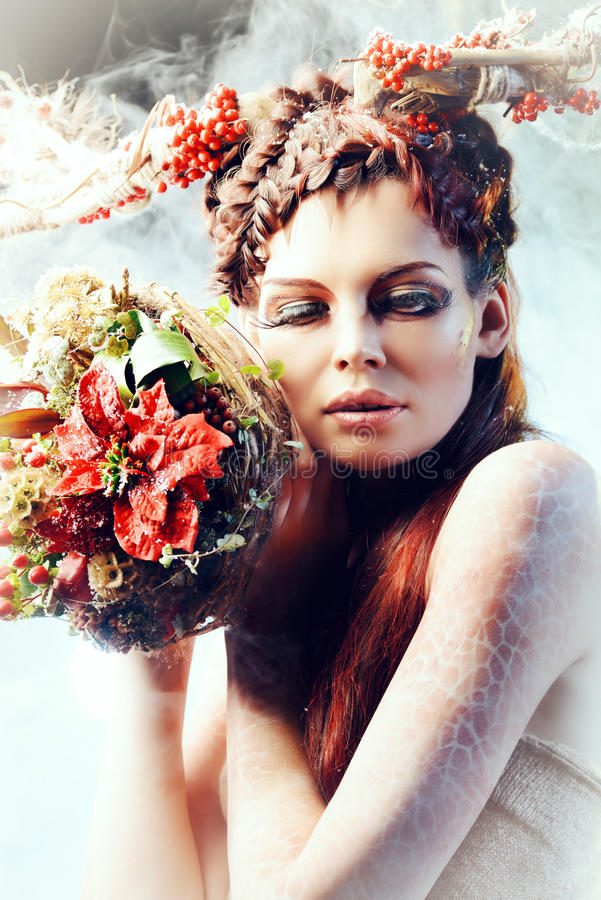 Zimy boginka obrazy royalty free