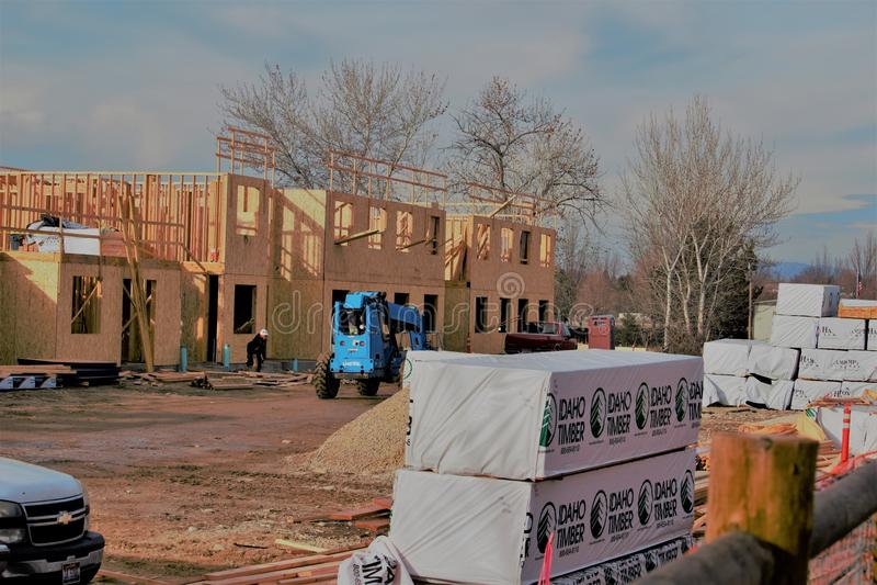 Zimy budowa w Boise Idaho zdjęcia royalty free