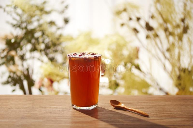 Zimy czarnej herbaty napój fotografia royalty free
