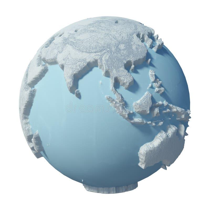 Zimy 3D planeta fotografia royalty free