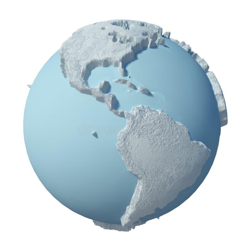 Zimy 3D planeta royalty ilustracja