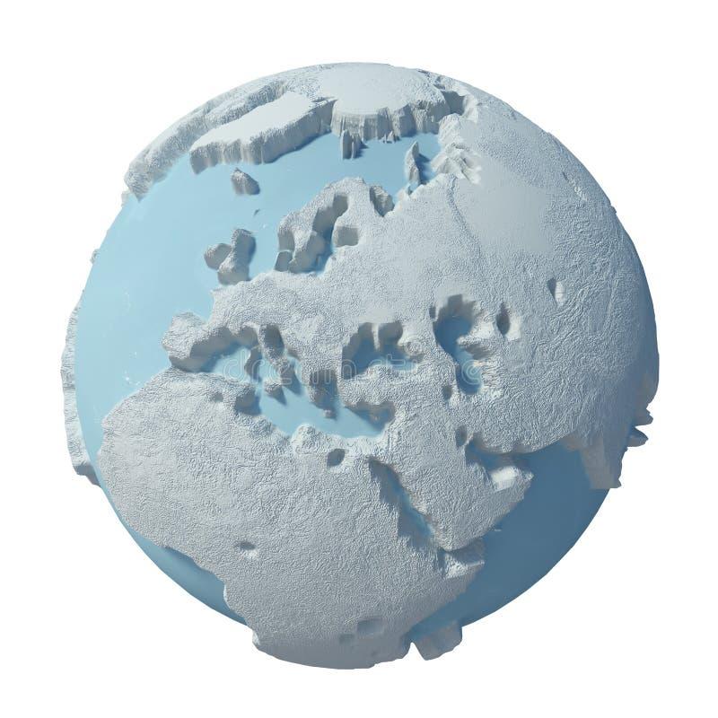 Zimy 3D planeta ilustracja wektor