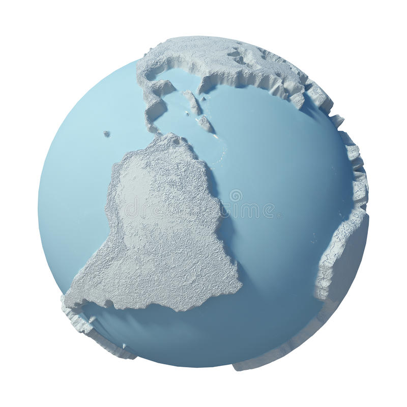 Zimy 3D planeta ilustracji