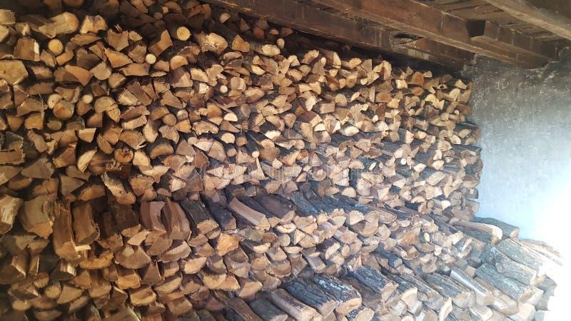 Zimy drewno zdjęcia stock