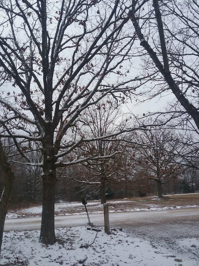 Zimy droga pt2 zdjęcie stock
