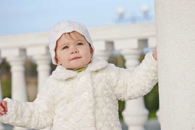 Zimy dziewczynka obrazy royalty free
