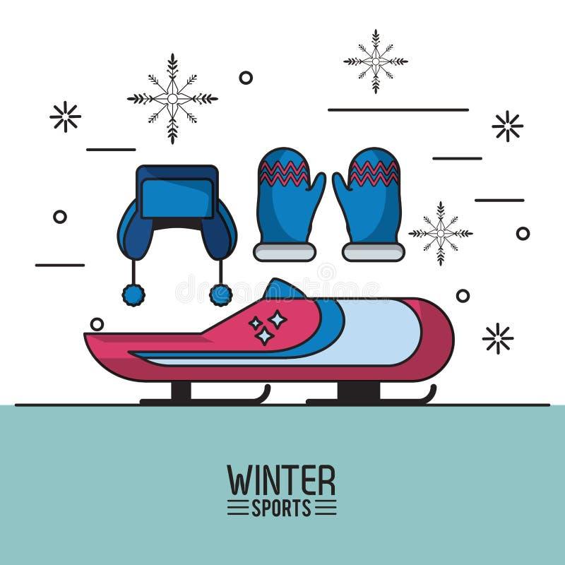 Zimy ekstremum sporty royalty ilustracja