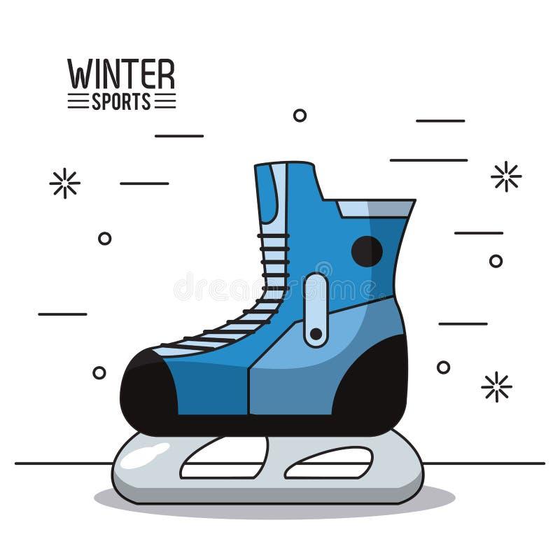 Zimy ekstremum sporty ilustracji
