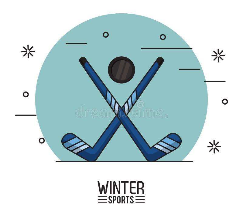 Zimy ekstremum sporty ilustracja wektor