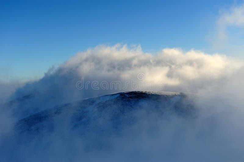Zimy góra zdjęcia royalty free