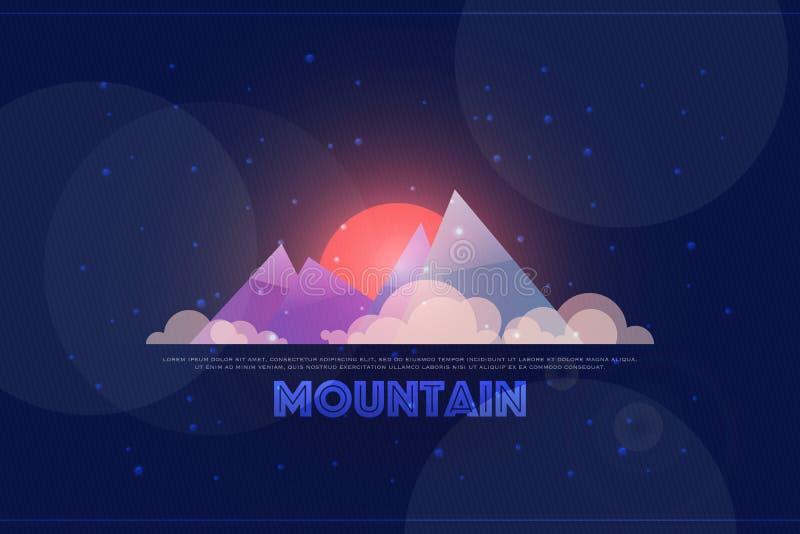 Zimy góra royalty ilustracja