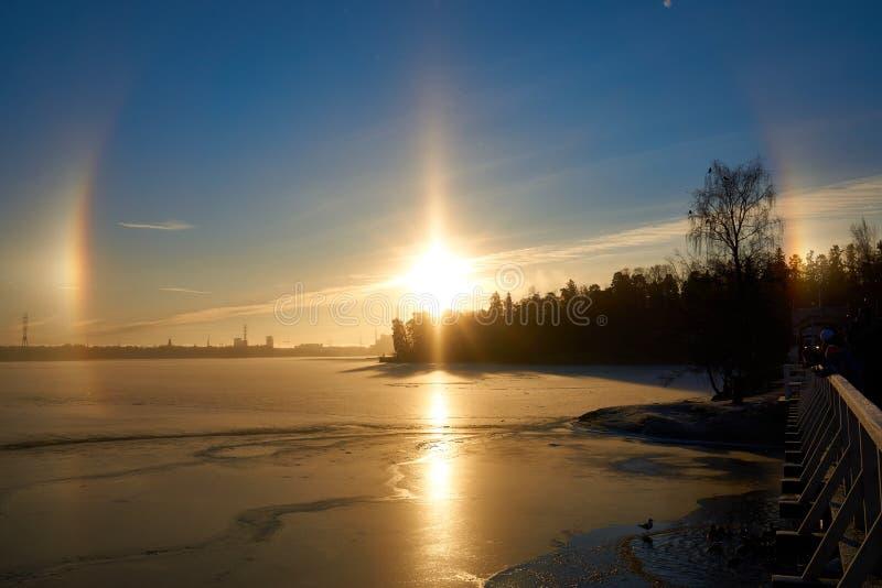 Zimy halo 2 zdjęcie royalty free