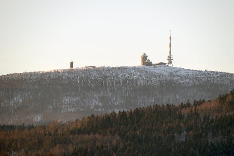 Zimy Harz park narodowy, Niemcy obrazy stock