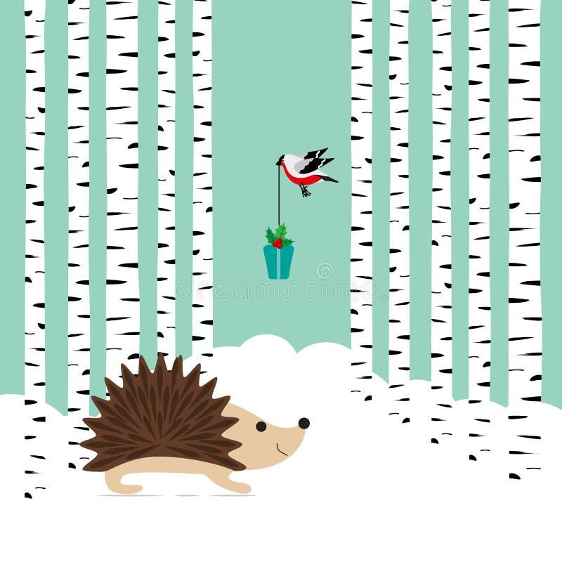 Zimy karta ilustracji