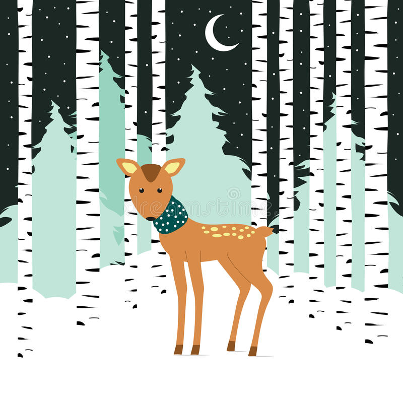 Zimy karta ilustracja wektor