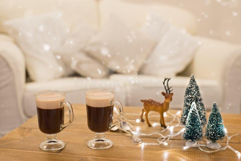 Zimy kawa zdjęcia stock