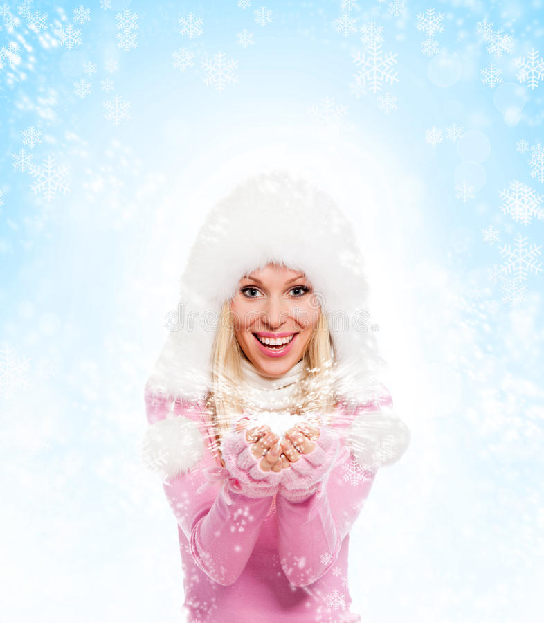 Zimy kobieta zdjęcie stock